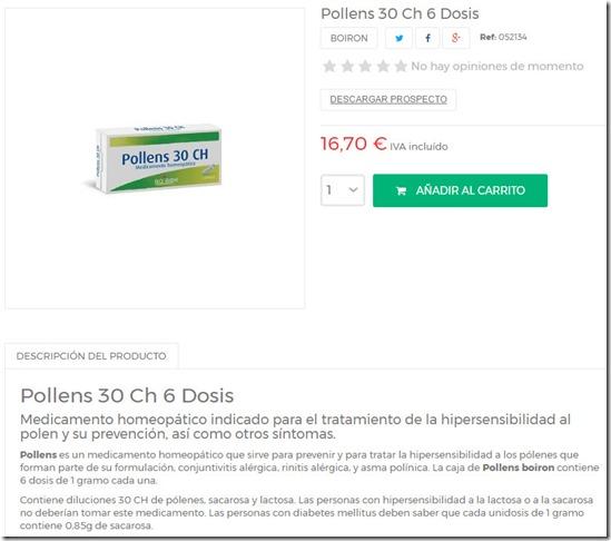 16,70 euros los 5,1 gramos de azucar