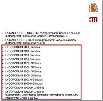 Lycopodium - AEMPS
