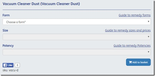 Vacuum cleaner dust