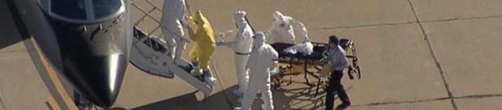 El hombre sin protección contra el ébola